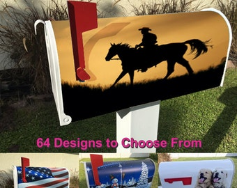 Cowboy Theme Magnetic Mailbox Cover
