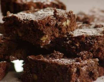 Fudge Brownie Baking kit - Healthy Chocolate Apple - with without nuts - dairy grain gluten refined sugar free paleo - organic cacao almond