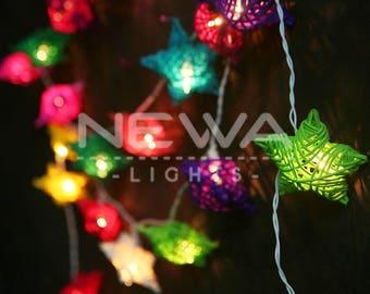 String Lights In Nursery : Rattan string lights Etsy