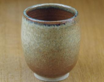 Handmade Handless Mug, Pottery Cup, Coffee Cup, Handmade Stoneware Teacup, Ceramic Tumbler