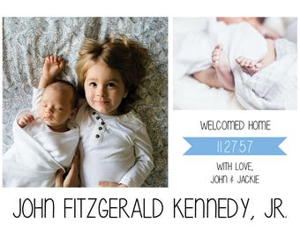"""Adoption Announcement // Pink or Blue // Postcard or Card // Horizontal // 4""""x6"""" 5""""x7"""" // PDF Download"""