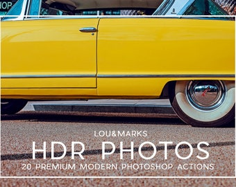 20 Professional HDR Photoshop Actions Professional Photo Editing for Portraits, Newborns, Weddings By LouMarksPhoto