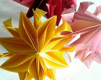 """""""Flame of love"""" origami flower"""