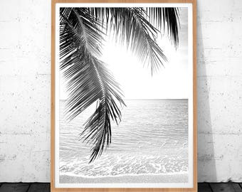 Tropical Print, Tropical Leaf Art, Palm Tropical Leaf, Tropical Decor Wall Art, Tropical Art, Tropical Palm, Tropical Decor, Printable Leaf