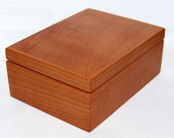 Jewelry box gift box solid beech