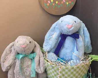Personalized Easter Bunny, Custom Easter Bunny, Personalized Easter gift, Plush Bunny, Easter Gift, Easter basket