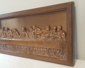 Last Supper Wall Decor vintage last supper | etsy