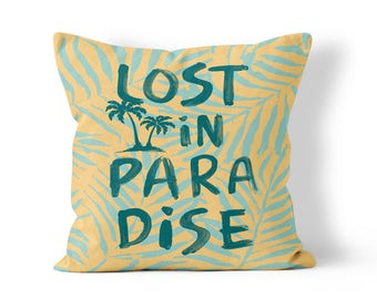 Lost in Paradise Outdoor Throw Pillow