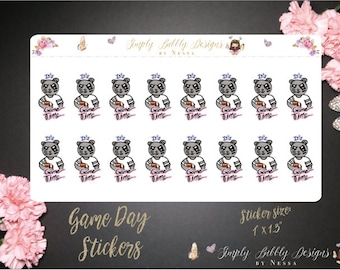 Game Day - Seasonal Planner Stickers