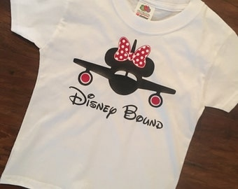 Disney Bound Shirt | Disney vacation shirt, plane with minnie bow and ears