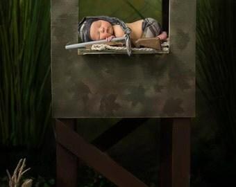 Deer Stand Newborn Digital Backdrop / digital background for photography
