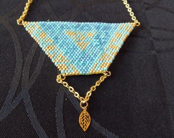 triangle necklace beads