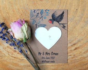 10 Personalised wildflower seed wedding favours, seed packets, eco wedding favour, seeds, wedding favour, rustic wedding, green wedding