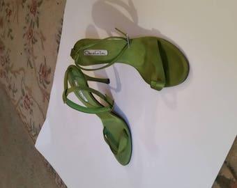 Oscars dela Renta Ankle Strap Heels