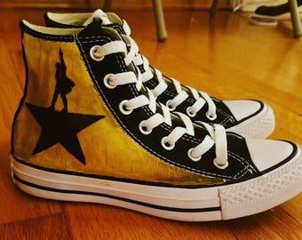 Kids Hamilton Painted Converse All Star High Tops