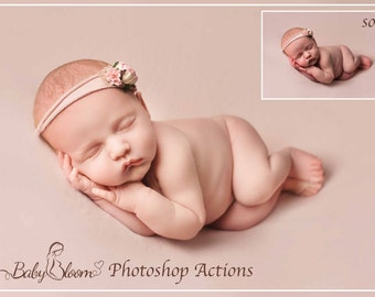 BabyBloom Newborn/Baby/Child Photoshop Actions - Essential Collection of 23 easy to use Creamy tones Actions inc Essential Matte B/W