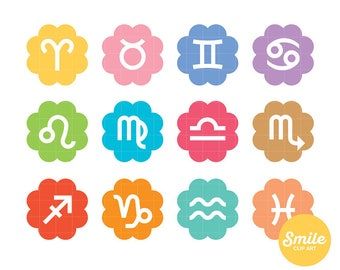 Sun Signs Clipart for Commercial Use - C0320