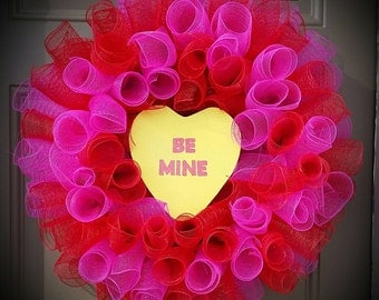 Conversation Heart Valentine Wreath