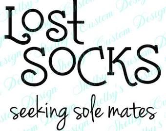 Lost Socks Seeking Sole Mates Wall Decal,Lost Socks Wall Stickers, Seeing Sole Mates Wall Art, Modern Wall Decals, Vinyl Wall Decals