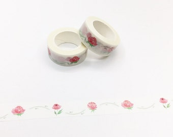 Roses Washi Tape - Planner/Journal/Travel Notes Series