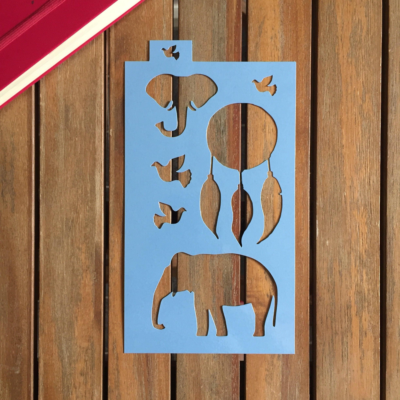 Stencil a5 planner elefanti e acchiappasogni gazzetta di for Capannone pianificatore di layout