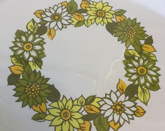 Retro Flower Power Serving Platter