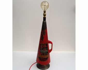 Upcycled Vintage Fire Extinguisher Lamp