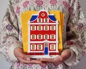 European midtown #1 wooden house / napkinholder