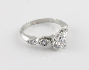 Vintage Art Deco Diamond Engagement Ring, 0.90 ct