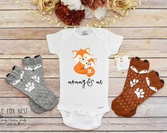 Mommy and Me, Fox Onesie®, Fox Gift, Baby Girl Clothes, Baby Boy Clothes, Baby Shower Gift