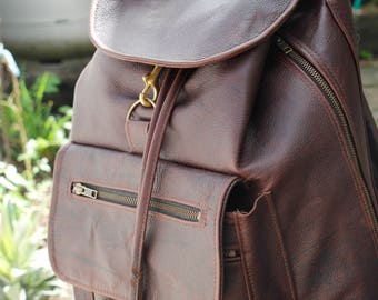 Travel Laptop Backpack- Kangaroo Leather HandMade In Australia