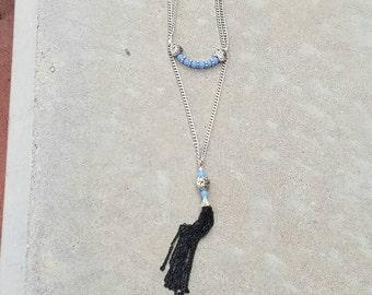 Heart Tassel necklace