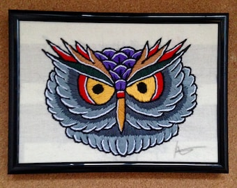 Owl Head Embroidery