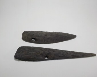 2 Black Oak Driftwood 9 - 13''/25 - 34 cm Driftwood With Hole - Craft Wood - Genuine Driftwood #276