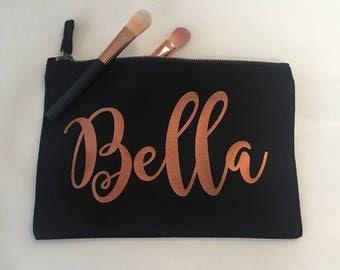 Large Make Up Bag / Cosmetic Bag / Wash Bag / Pencil Case / Large Personalised