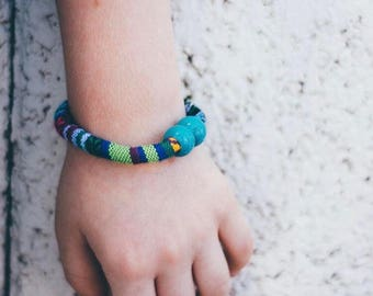 Boho Serape Bracelet- wrap bracelet, boho bracelet, toddler bracelet, womens bracelet, stacking bracelet, modern bracelet, summer bracelet,
