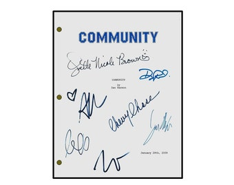 Community Signed TV Pilot Script - Chevy Chase, Joel McHale, GIilligan Jacobs, Danny Pudi