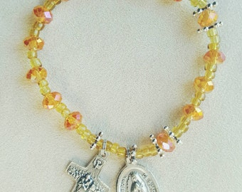 Citrus Rosary Bracelet