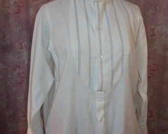 A rustic, rustic, old shirt striped bib