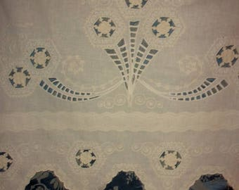 antique curtain with embroidery