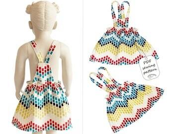 Skirt pattern PDF, baby sewing patterns, kids sewing patterns, sewing patterns dress