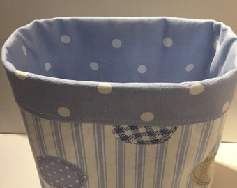 Large fabric Storage Basket, Organiser, Baby Gift, Storage Basket, Room Tidy