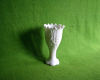 Vintage Milk Glass Vase, 1960's