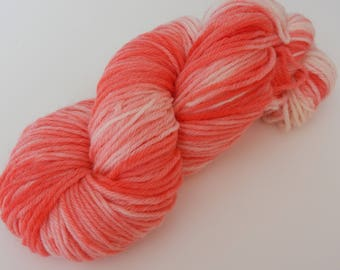 Strawberries and Cream, Worsted Weight Hand Dyed Yarn