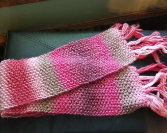 Bamboo Girly Pink, Purple and Brown Scarf