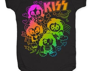 KISS baby KISS Infant Romper (KISSIN01) Black