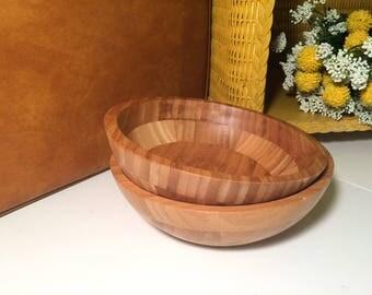 SALE 20% OFF Set of 2 wood bowls