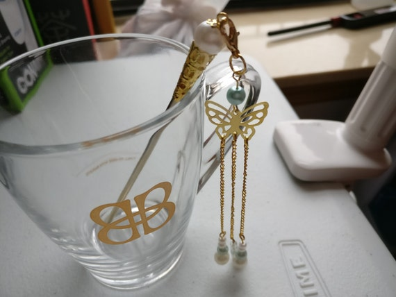 Chinese Golden and Pearls Hair Accessories Hair Stick Hair Pin