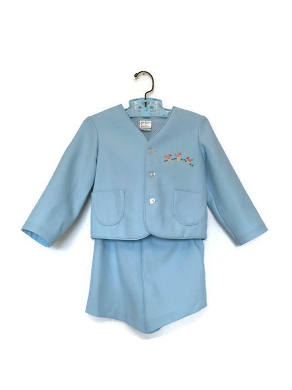 vintage baby clothes blue suit easter boys or