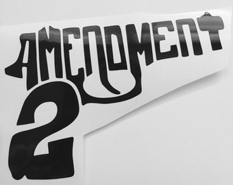 Second Amendment Gun - Yeti Tumbler Decal